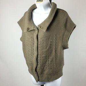 Free people Pocketed tan snap cardigan sweater